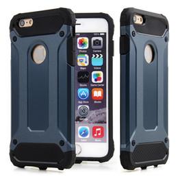Wholesale Slim Armor Hybrid Tough Case Heavy Duty Cover Shockproof defender for iPhone s Plus S SE Samsung Galaxy S7 S7 edge S6 S6 Edge Plus