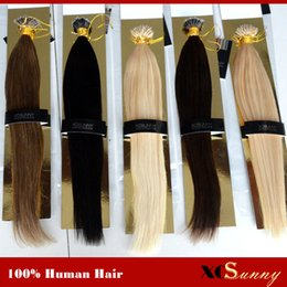 "XCSUNNY Stock Nano Bead Hair Extensions 18""20"" 100g pk Nano Rings Human Hair Extensions 100% Human Indian Remy Hair + 100beads"