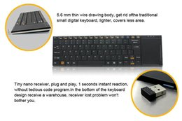 Wholesale wireless German keyboard mini teclado English Arab French Spanish Portuguese Arab Russia language GHZ for gaming computer