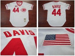 Wholesale 2016 New Cincinnati Eric Davis Throwback White Jersey Cheap Best Quality Embroidery Logo Authentic Baseball Jersey Size M XL