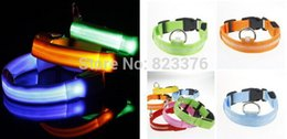 Fedex dhl Free shipping Pet Cat Dog LED Collar Safety Glow Necklace LED Flashing Light S M L XL Size ,200pcs lot