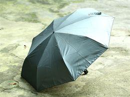 Wholesale Anti rust parasol anti thunder T aluminium angles shaft all fiberglass windproof manual folding umbrella for car travelling drop ship