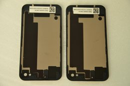 New High Quality iPhone 4S Glass Battery Door Replacement Battery Door Back Cover Rear Door Housing Case