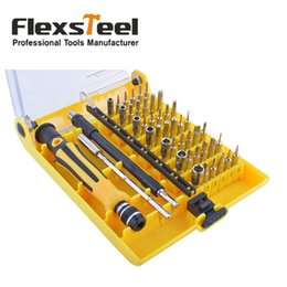 Wholesale Computer Repairing Tools Kit - Rechargeable Torx Precision Screwdriver Set 45 in 1 Multi Bit for iphone Sumsung Computer Laptop Eyeglase Watch Repair Tools Kit