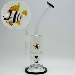 Wholesale Cool Male Jiont Fish Funny on Honeycomb Animal Water Bong Pipes Smoking Oil Rigs Smoking Accessories Filter Water Bongs Christmas gifts