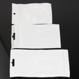 Wholesale 500pcs Clear white Pearl Plastic Poly OPP Packing Zip Retail Packages PVC plastic bag cm cm cm cm cm cm