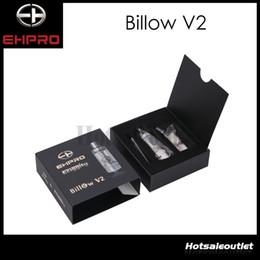 Billow v2 à vendre-Origine EHpro Eciggity Bulow V2 RTA 5ML réservoir Bulow V2 RTA atomiseur 304 SS + verre Pyrex + POM remplacement bobine double énorme stock maintenant !!