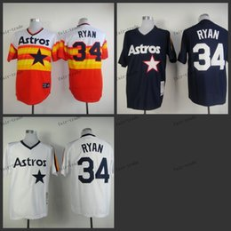 Wholesale houston astros nolan ryan Baseball Jersey Cheap Rugby Jerseys Authentic Stitched Size