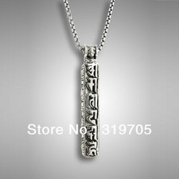 Wholesale Antique silver charm pendant necklace silver chain about cm by china post air mail