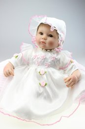 Wholesale-Hot sale 45cm realtouch 100% handmad reborn soft realistic simulation silicone bebe reborn dolls porcelain toddler bjd baby toy