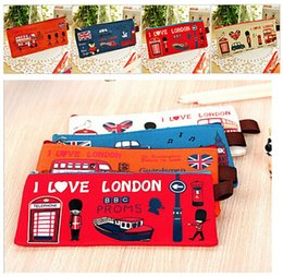 Top quality Retro London Oxford Cloth School Pen Pencil BAG Case Pouch Purse BAG Wallet Coin Pouch BAG Case 600pcs