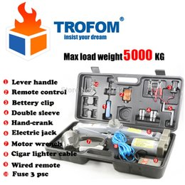 Wholesale max load weight KG Wireless remote control Auto electric hydraulic jack car lift USV tire repair tools toolkit