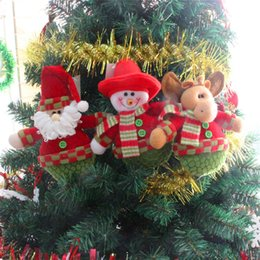 Wholesale 2015 Hot Christmas Tree Decoration Ornaments Hangings Pendant Gift Santa Claus Fawn Snowman Bear Muppets Toys Price