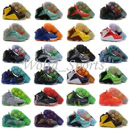 Wholesale 23 Colors Mens Basketball Shoe LBJ Christmas Galaxy Sports Shoe Athletic shoe Best price Quality SZ40 US7