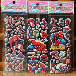 Wholesale spiderman cartoon stickers birthday party favor