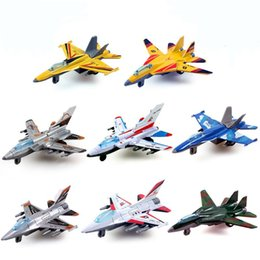 Wholesale DiBang Plane stylingkids Children alloy back to combat aircraft Military aviation model truck toys for children