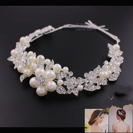 Luxury Jewelry Wedding Hair Accessories For Wedding Veils Pearls Crystal Bridal Head Wear Free Shipping