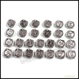 Wholesale 78pcs Antique Silver Alphabet A Z Letter Tag Charms mm For Jewelry Making