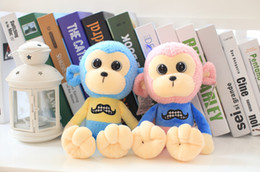 Lovely Genius Monkey Stuffed Animal Toy with Big Eyes Kids Gift for Festival Birthday Party 25cm