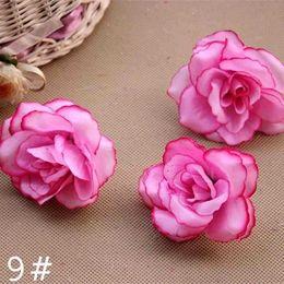 Dia4.5cm Bulk Haut grade soie Tissu Fleurs artificielles rose flores artificielles balle A119 têtes Fête de mariage de bricolage décoration fabric rose heads promotion à partir de tissu rose têtes fournisseurs