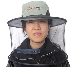 Wholesale Creative fishing Outdoor Anti mosquito Mask Hat with Head Net Mesh Face Protection Veil Mosquito Fly Head Net Face Protection