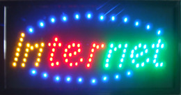 Wholesale 2016 Ultra Bright Internet Service Cafe Led Neon Sign Size Inch with Animation montion and Power Switch