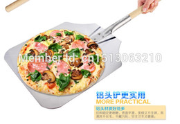 Wholesale Pizza tray Aluminium pizza tools wooden handle Not Mildew bakeware easy cleaning two size CM CM modern kitchen