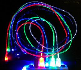 100 Micro USB LED conector de carga retráctil luz Cables de datos de sincronización cara de la sonrisa cable USB LED para Samsung HTC, TCL todos los OS androide desde conector micro usb retráctil proveedores