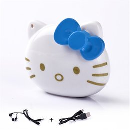 Hello Kitty cartoon mini mp3 player with Micro SD Card slot Best Gift For Kids machine +earphone + usb cable cord 1pc up