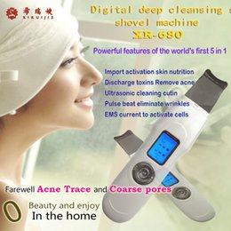 Wholesale Beauty Equipment Multifunctional Portable Ultrasonic Skin Scrubber Cleaner Massager LCD display modes ultrasonic high frequency LCD XR