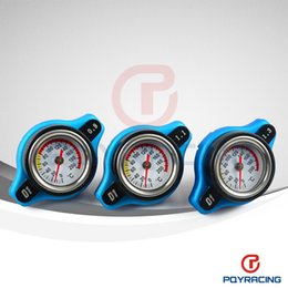 Wholesale PQY STORE D1 Spec RACING Thermost Radiator Cap COVER Water Temp gauge BAR or BAR or BAR Cover