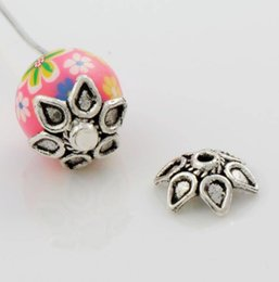 Wholesale 2016 hot x9mm Antique Silver Waterdrop Drop Bali Style Design Bead Cap Jewelry Findings Components L1047