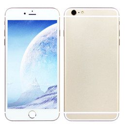 Wholesale Sealed Box i6s Plus I6s GooPhone inch Dual Core Android teléfono con cámara dual Mostrar G GB Mostrar G LTE G GPS Móvil Nuevo