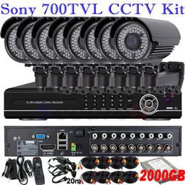 Wholesale Best Video Quality ch cctv security monitor kit home surveillance thermal system ch D1 HDMI DVR Vari focal zoom lens camera