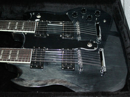 Custom 1275 Double Neck Guitars Factory gray 6 strings 12 strings Double neck electric guitar