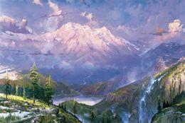 Wholesale Twilight Vista Thomas Kinkade Paintings on Canvas Wall Art High quality Hand painted