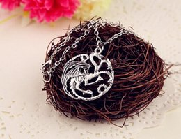 2015 new arrival necklace Flim Jewelry Daenerys Targaryen Dragon Necklace Game of Throne Fire And Blood free shipping
