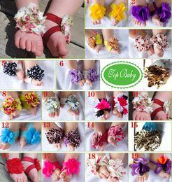 Toddler Baby Barefoot Socks Sandals Shoes Children Rose Foot Ornaments Infant Flower Socks 20pair