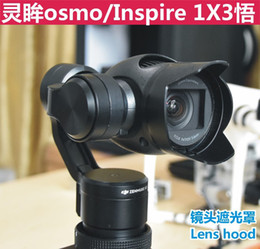 Wholesale DJI osmo Accessories Lens glare blackout visor lens cap Remote Control Aircraft ABS camera lens hoods for DJI osmo and inspire