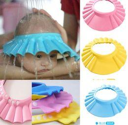 Wholesale Adjustable Baby Kids Child Shampoo Bath Bathing Shower Cap Hat Wash Hair ShieldBrand New Good Quality