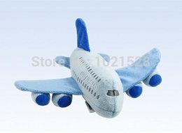 Wholesale 22cm Airbus A380 airplane mini stuffed toy plush plane toy aircraft plush toy flying model