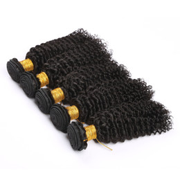Remy Hair Products Malaysian Human Virgin Hair Kinky Curly Natural Black Color Can Be Dyed And Bleached