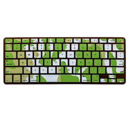 "Wholesale-For 17"" Colorful laptop skins Camouflage Colors For Apple Keyboard Stickers Silicon Keyboard Protective film For Macbook"