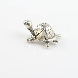 Wholesale MIC New x30mm Antique Silver Tortoise Turtle Metal Alloy mm Hole Loose Beads Jewelry DIY L1262
