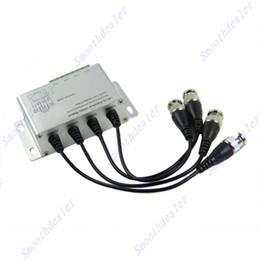 Balun pasivo de vídeo de 4 canales en Línea-1 juego de 105 mm X 57 mm X 29 mm-D5440 al por mayor de 4 canales transmisor receptor video pasivo del Balun CCTV para pares trenzados Via X204-F