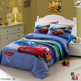 kids race car bedding set boys queen twin size cartoon blue bedspreads duvet cover bed in