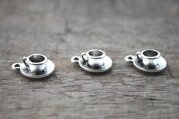 Wholesale 10pcs Tea Cup Charms Antique Tibetan silver Tea Cup Charms Pendants x15mm