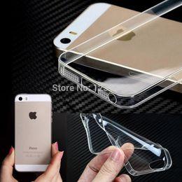 Promotion cas transparents pour iphone 4s Gratuit gros-expédition 2,015 nouvelle 0.3mm Crystal Clear souple en silicone transparent TPU couverture de cas pour l'iphone 5 5S 4 4s
