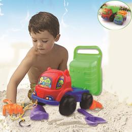 Wholesale Drag line ATV dump large trumpet factory direct children s beach toys suit sets