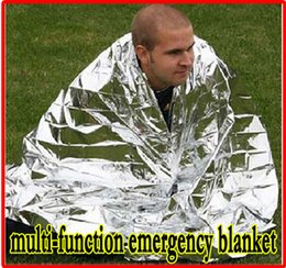 Wholesale HOT Multi function Outdoor Camping Waterproof Emergency Survival Insulation Foil Thermal First Aid Rescue Blanket Disaster Response Tool